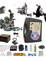 Complete Tattoo Gold Buddha 3 Machines With Digital Power Supply  Liner & Shader Inks
