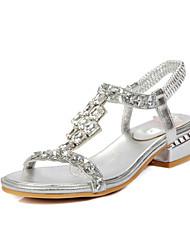 Damen-Sandalen-Kleid Lässig Party & Festivität-PU-Blockabsatz-Andere-Silber Gold