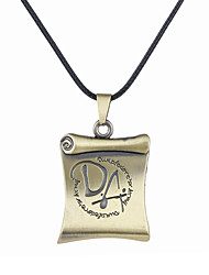 Men's Pendant Necklaces Jewelry Alloy Square Unique Design Logo Style Dangling Style Bronze Jewelry Halloween 1pc