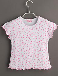 Tee-shirts bébé Galaxie Décontracté / Quotidien-Coton-Eté-Rouge