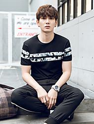 los nuevos verano 2017 hombres&# 39; s de algodón coreano de manga corta camiseta hombres de la impresión de camuflaje&# 39; s