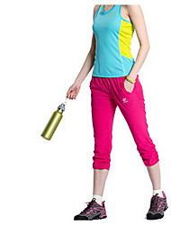 Femme Bas Sport de détente Séchage rapide Printemps Eté Automne Rouge Beige clairM L XL