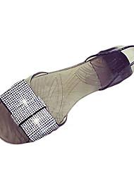 Femme Ballerines Confort bottes slouch Polyuréthane Printemps Eté Automne Décontracté Marche Confort bottes slouch StrassTalon Plat Talon