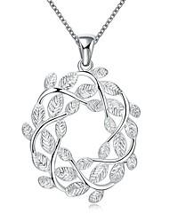 Femme Pendentif de collier Colliers chaînes Zircon cubique Forme de Fleur Zircon Cuivre Plaqué argentBasique Original A Fleurs Pendant