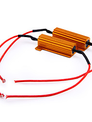 2 X Turn Signal LED Light Resistors Fix Flash 50W 6ohm