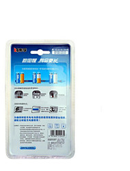 Nanfu aa rechargeable 2100mAh de la batterie avec chargeur pour voiture jouet glucose / sang mètre / horloge horloge / souris clavier 4