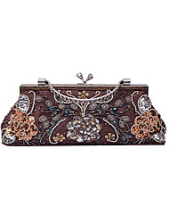 Women Canvas Silk Formal Event/Party Wedding Evening Bag Handbag Clutch More Colors