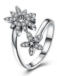 Ringe Hochzeit Party Besondere Anlässe Halloween Alltag Normal Schmuck Sterling Silber Zirkon Ring 1 Stück,8 Silber