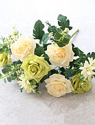 11 Bifurcate/Bouquet European Style Roses Artificial Flowers Colour Assortment Entirety Floriculture Artificial Flower