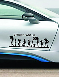 30*9cm personalized ONE PIECE Car Sticker car door body Decal sticker Styling For All Car 2 colors(2PCS)