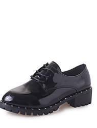 Women's Loafers & Slip-Ons Comfort PU Spring Summer Casual Comfort Beading Flat Heel Black Silver Flat