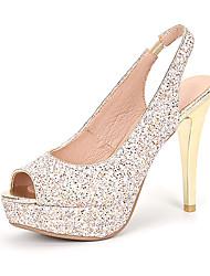 Damen-High Heels-Hochzeit Kleid Party & Festivität-Glanz maßgeschneiderte Werkstoffe-Stöckelabsatz-Blumen-Mädchen-Schuhe Club-Schuhe