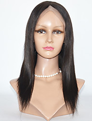 Long  Straight Human Hair Lace Wigs Kinky Straight Full Lace Wigs