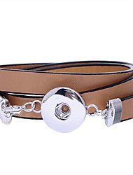 Bracelet Leather Bracelet Stainless Steel Leather Others Fashion Gift Boxes & Bags Gift Sports Jewelry Gift Brown,1pc
