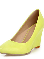 Women's Heels Spring Summer Fall Winter Club Shoes Comfort Fabric Leatherette Office & Career Dress Casual Wedge Heel OthersBlack Yellow