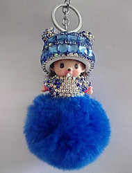 Dolls Key Chain Toys Leisure Hobby Blue Crystal