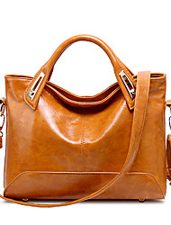 Women Bags All Seasons PU Tote with for Wedding Event/Party Casual Sports Formal Outdoor Office & Career Black Brown Wine
