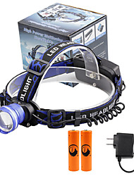 U'King® ZQ-X837BL#5-EU CREE XML T6 Zoomable 180 Rotate 3Modes Headlamp Bike Light Kits with Rear Safety LED