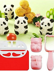 5Pcs 3D Panda Shaped  Rice Ball  Mould Tool   Sushi Maker  Kitchen DIY Children Rice Ball  Mould Tool Kitchen Accessories