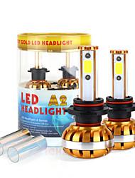 2017 9012 nouvelle puce kit phare 60w 6400lm conduit cob ampoules 6000K 8000K lampes de lumière paire