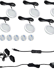 6PCS 3W  Warm White / Cool White  LED Under Cabinet Lights  85-265V