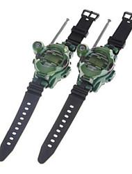 одна пара часы стиль смешной свободный говорун рацией радиостанция с функцией семь (зеленый)