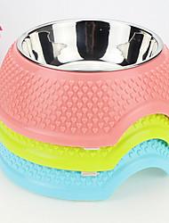 High Quality Pet Bowl Bowl Bowl Stainless Steel Dog Bowl Full Heart Plastic Anti Slip Bowl Bowl Bowl Basin
