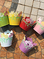 Candy color 6 color garden round flower pot