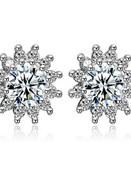 Sun Flower Flash Zircon Full Diamond Earrings