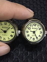 Masculino Relógio Anel Quartzo Lega Banda Legal Casual Bronze Bronze