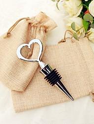 Heart Wine Bottle Stopper in Rustic Giftbag Practical Wine Tools Beter Gifts® Barware Kitchen Favor