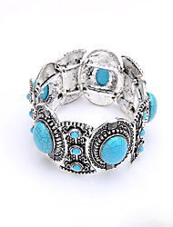 Bohemia National Wind Bracelet Foreign Trade Alloy Silver Plated Diamond Blue Stone Bracelet