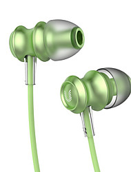 UiiSii US60 Bamboo Metal In ear Earphone Stereo Sound Headset with MIC Line Volume Control Fashion for Mobile Phone