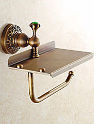 Solid Brass Material with Jade toilet paper holder bathroom mobile holder toilet paper holder