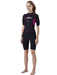 SLINX® Women's 3mm Wetsuits Dive Skins Waterproof Breathable Thermal / Warm Quick Dry Windproof Tactel Coolmax Memory Foam Diving Suit