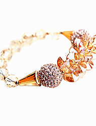 Women's Chain Bracelet Crystal Crystal Alloy Natural Fashion Round Gold Jewelry 1pc