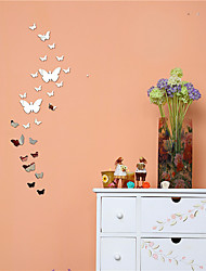 Crystal mirror DIY butterfly wall posts