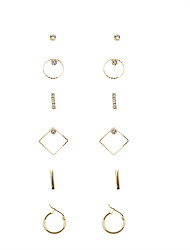Fashion Women Gold Metal Earring Set(6prs on a card)