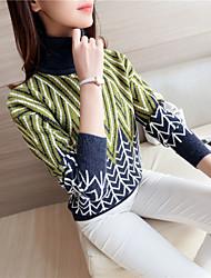 знак # 4223 2016 новый зимний свитер женский высокий воротник свитера волнистый