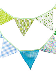 3.2m 12 Flags Multicolor Banner Pennant Cotton Bunting Banner Booth Props Photobooth Birthday Wedding Party Decoration
