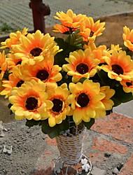 1 Ramo Plástico Crisântemo Flor de Mesa Flores artificiais 17*17*32