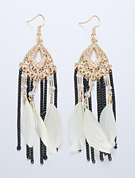 Europe And The United States To Restore Ancient Ways Fashionable Tassel Earrings National Wind Feather Earrings