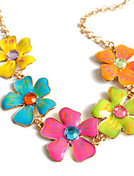Women's Pendant Necklaces Jewelry Cross Jewelry Alloy Unique Design Floral Fashion Adorable Euramerican European Jewelry ForParty Special