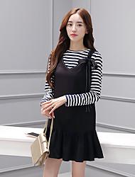 Sign 2016 Hitz Korean female original design detachable lace two-piece dress