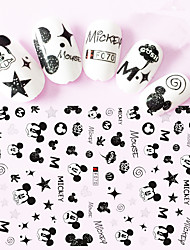 1pcs Nail Art Sticker Special Lovely Cartoon Mickey 3D Nail Stickers Nail Art Design F070