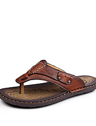 2017 Leather Men Sandals A Pair Of Slippers Makes You Look Very Stylish Soft Leather Casual Slippers Shoes