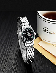 Men's Women's Fashion Watch Quartz Stainless Steel Band Silver