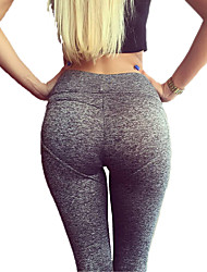 Yoga Pants Pants/Trousers/Overtrousers Breathable Compression Sweat-wicking Comfortable Natural Stretchy Sports Wear Gray Women'sYoga