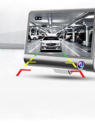 Full HD 1080p nueva de tres canales de cámara de 4,0 pulgadas de doble lente ajustable de 170 grados de ángulo amplio Registrador del