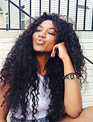 Hot Sale Virgin Human Hair Wig For Black Woman Curly Natural Black Color Glueless Full Lace Wig With Baby Hair Medium Lace Cap